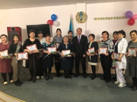 Celebration of the International Women's Day - March 8th  in Aktobe Medical Center