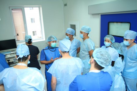 A master class was held at the Aktobe Мedical Сenter