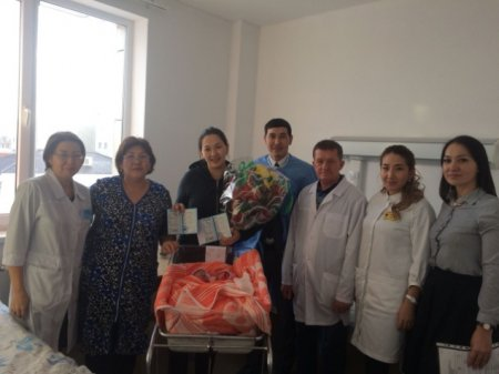 In the maternity ward of the Aktobe Medical Center on January 22, the twins Hadisha and Aisha were born